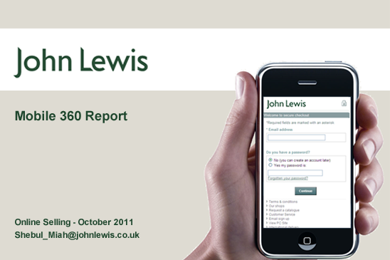 John Lewis 360 Mobile Report